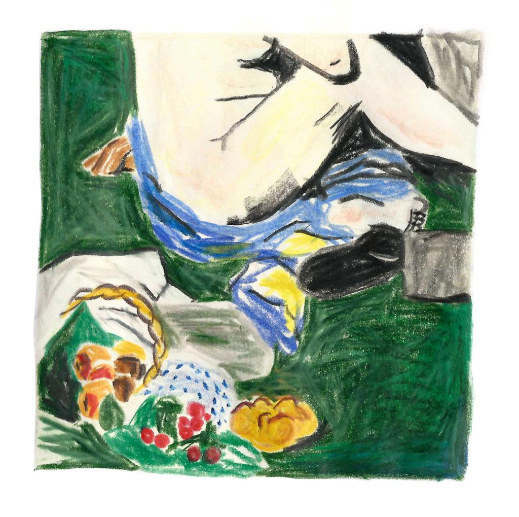 sophie_weidler_bauchez_illustration_fragments_tableaux_déjeuner_sur_l_herbe_manet