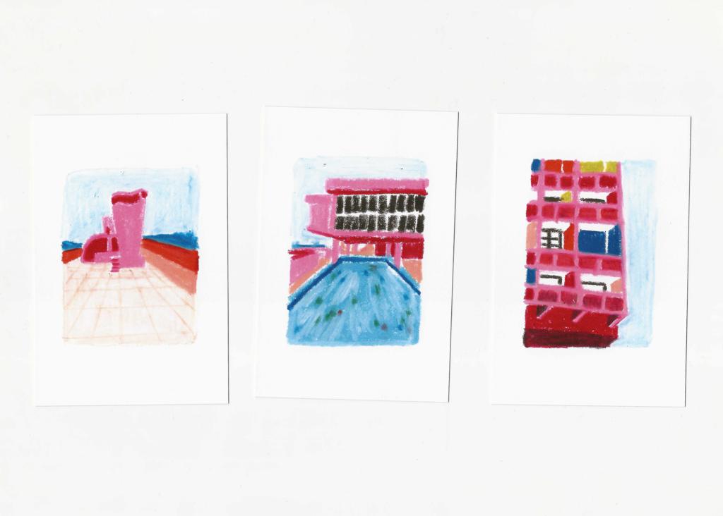 sophie_weidler_bauchez_illustration_architecture_cité_radieuse_corbusier_cartes_postales