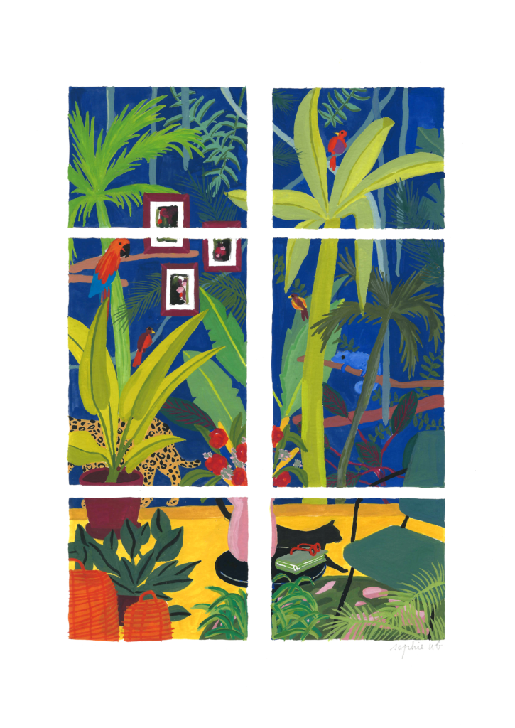 sophie_weidler_bauchez_illustration_gouache_peinture_intérieur_la_jungle