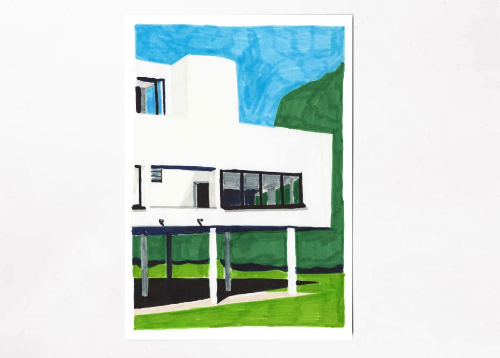 sophie_weidler_bauchez_illustration_architecture_villa_savoye_corbusier